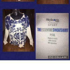 NWOT STYLE & CO Sport Petite Sweatshirt Size PM